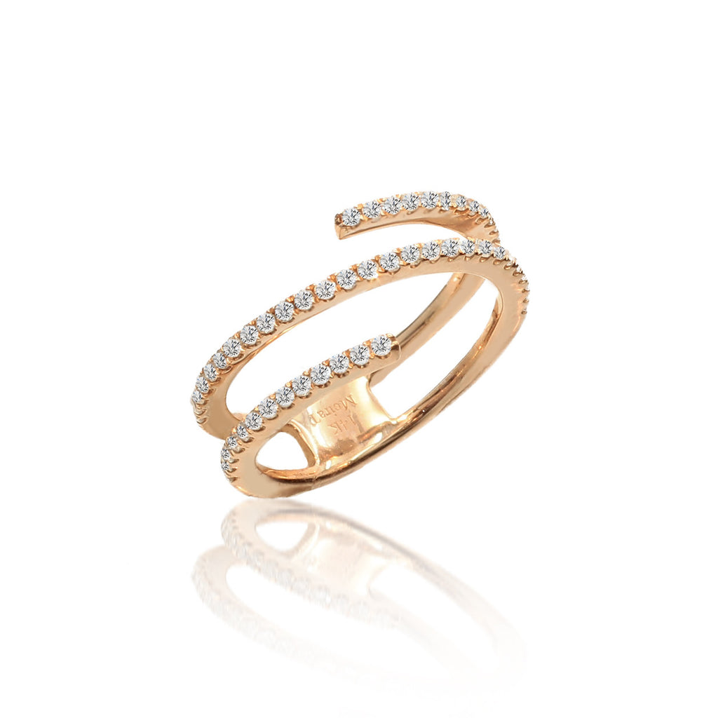Rose Gold Diamond Encrusted Ring