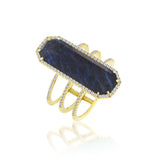 Royal Blue Sapphire Statement Ring