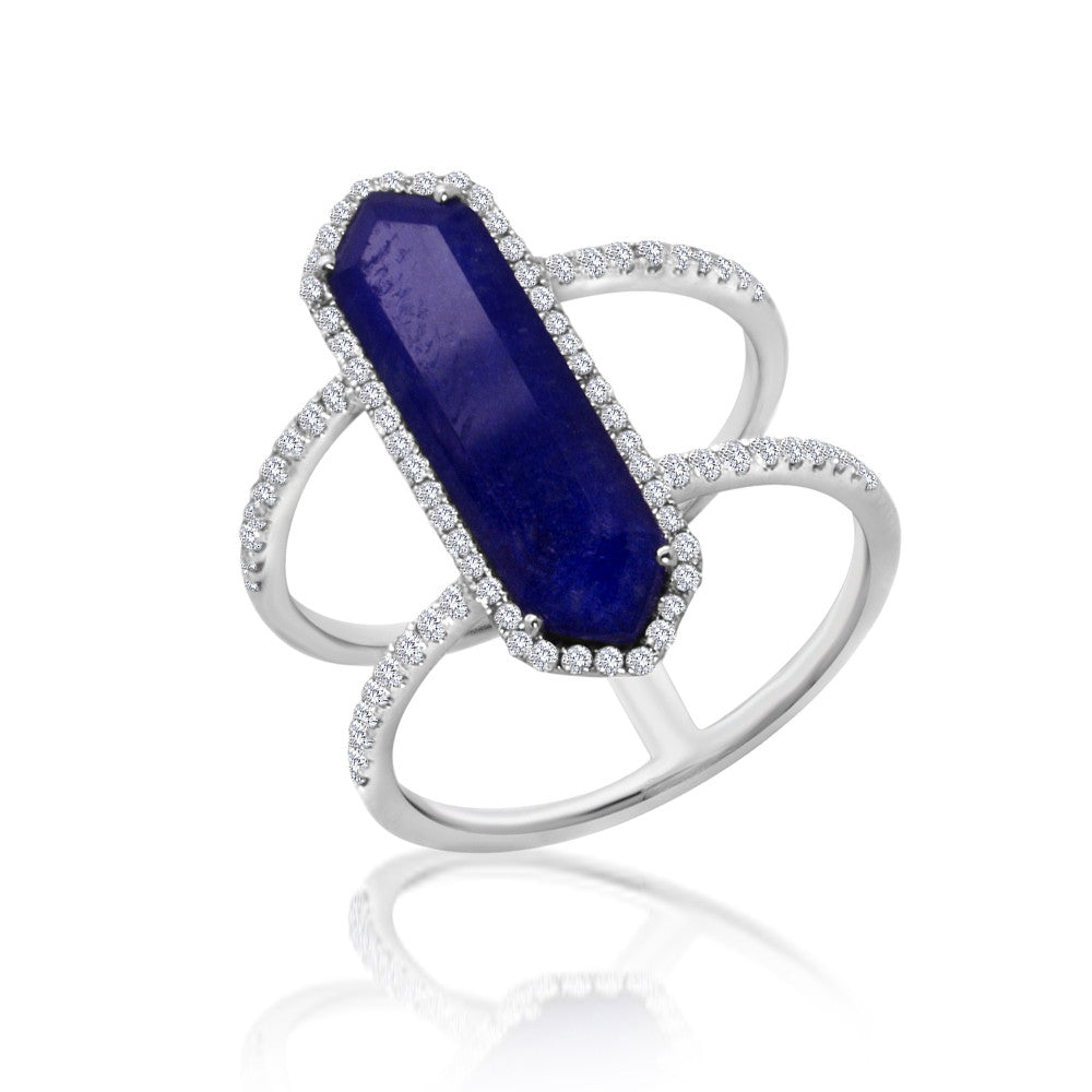 Blue Lapis Statement Ring