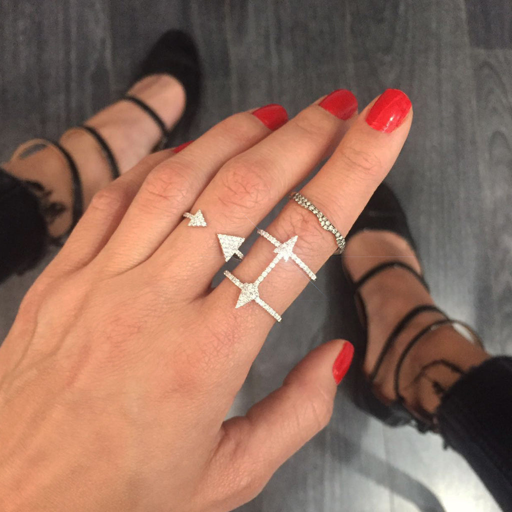 pave arrow ring