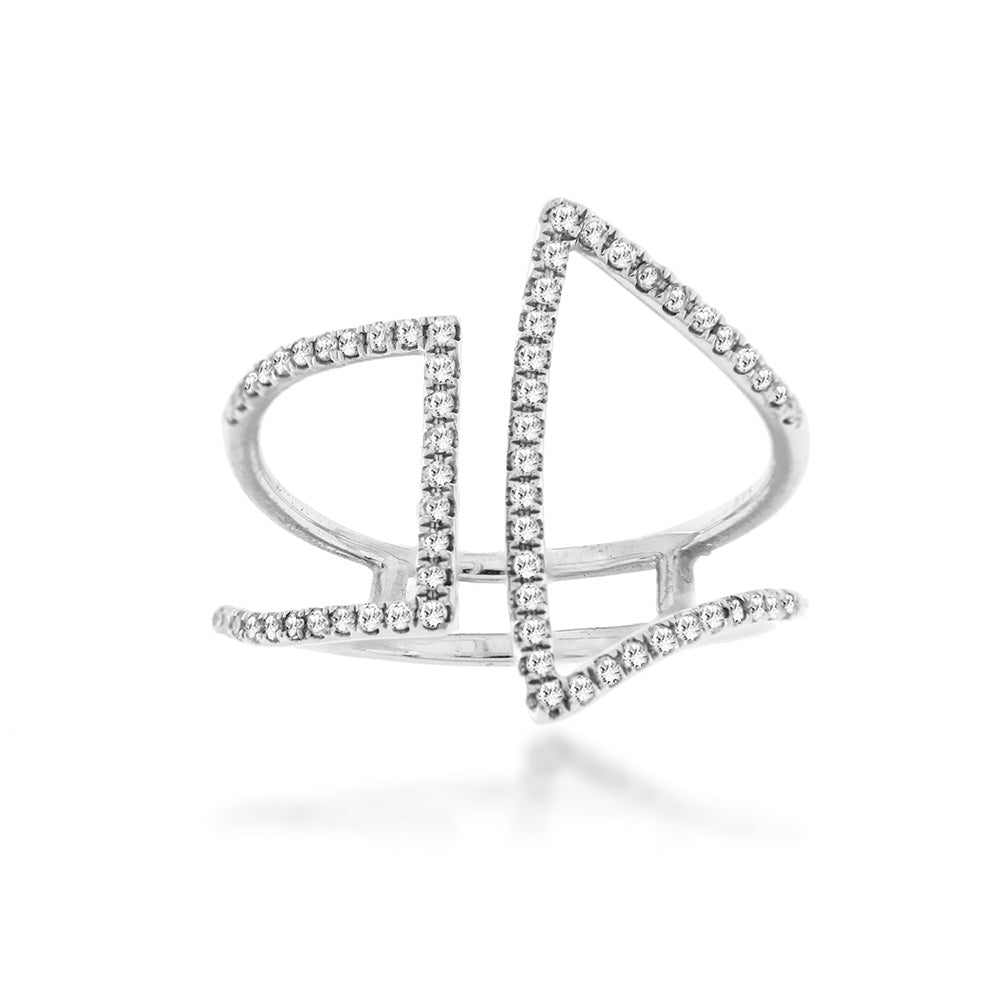 Geometric Diamond Ring