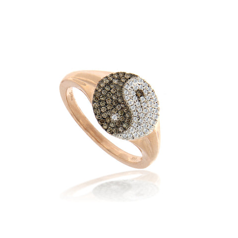Meira T Rose Gold Hematite Ring