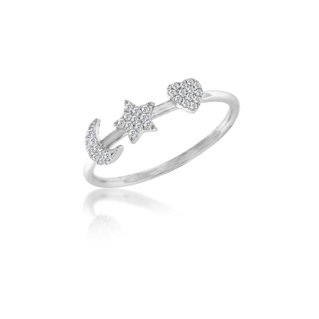 celestial diamond ring -Meira T