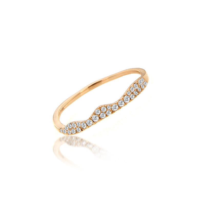 Rose Gold Pave Ring