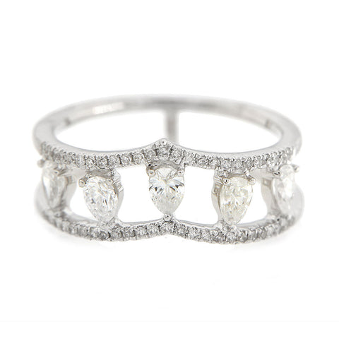 Antique Diamond Bracelet with Bezel Charms