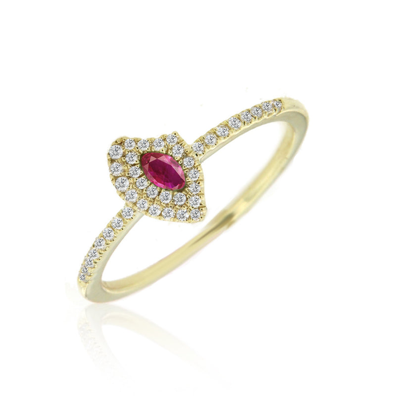 Ruby Marquise-Cut Ring