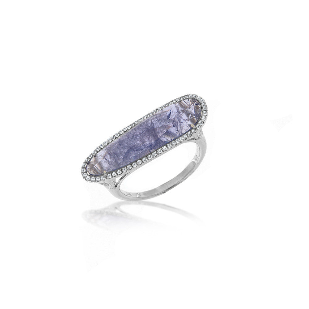 Tanzanite White Gold Halo Ring