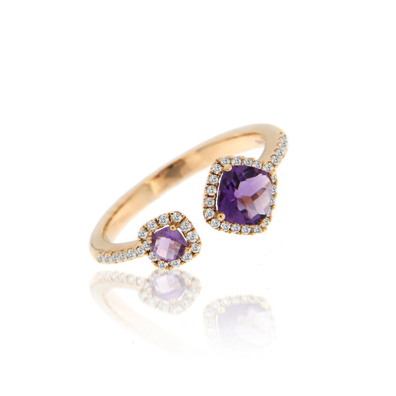 Amethyst Asymmetrical Ring
