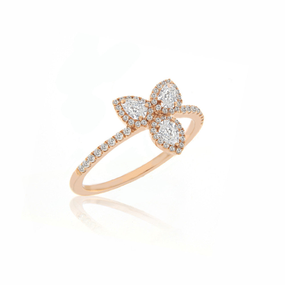 rose gold white topaz ring
