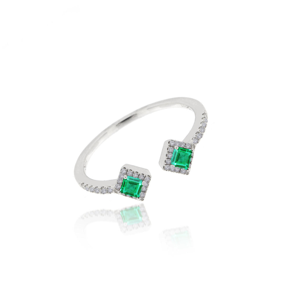 Open Emerald Ring