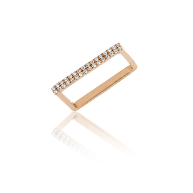 Square Rose Gold Ring