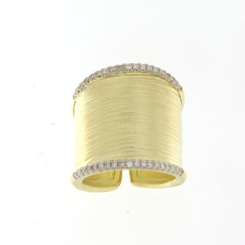 Yellow Gold Diamond Saddle Ring