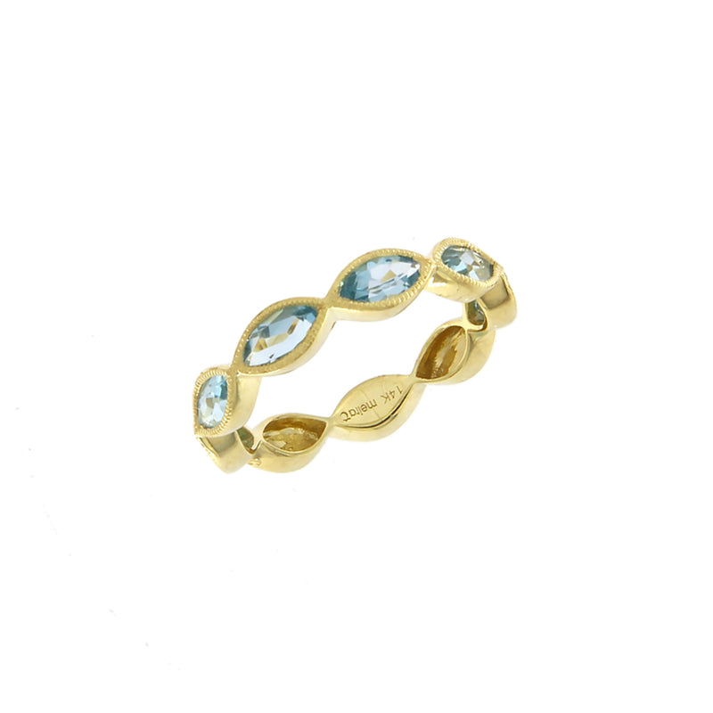 Blue Topaz Ring White Gold in Stock ONLY