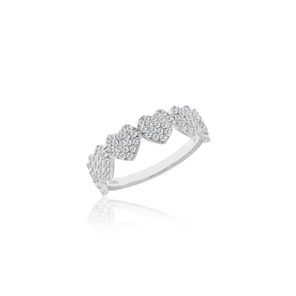 bands cut diamond ring the with carats around wedding fiona round white brilliant band all gold diamonds