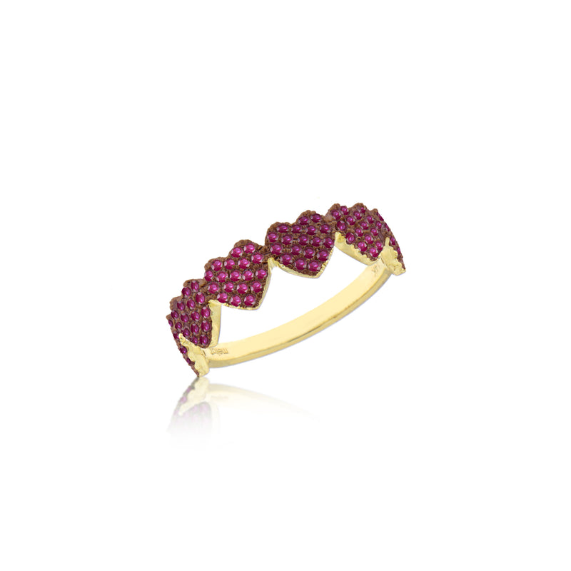 Ruby Heart Eternity Band