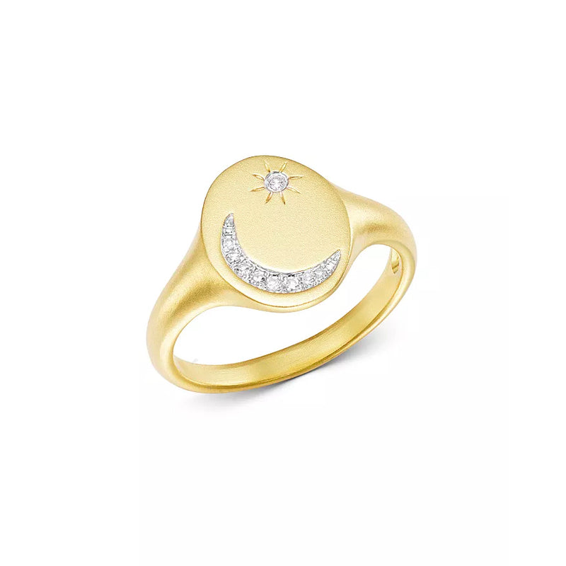 Meira T Moon and Star Signet Ring