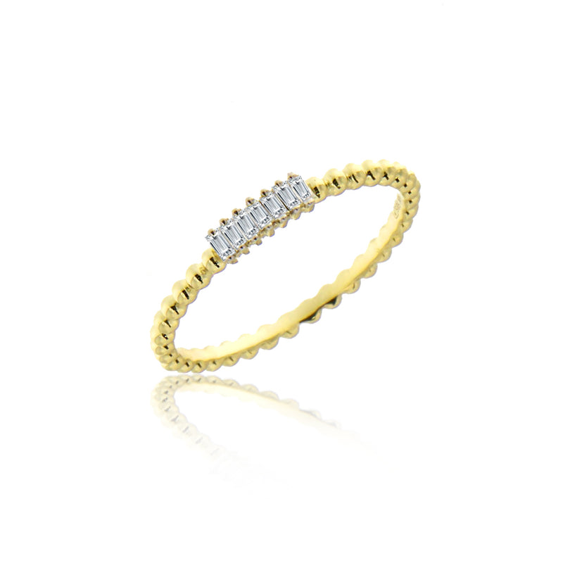 Delicate Baguette Diamond Ring