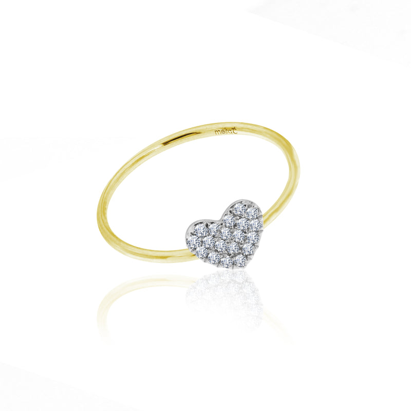 diamond heart ring gold
