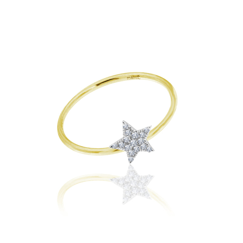 diamond star ring gold