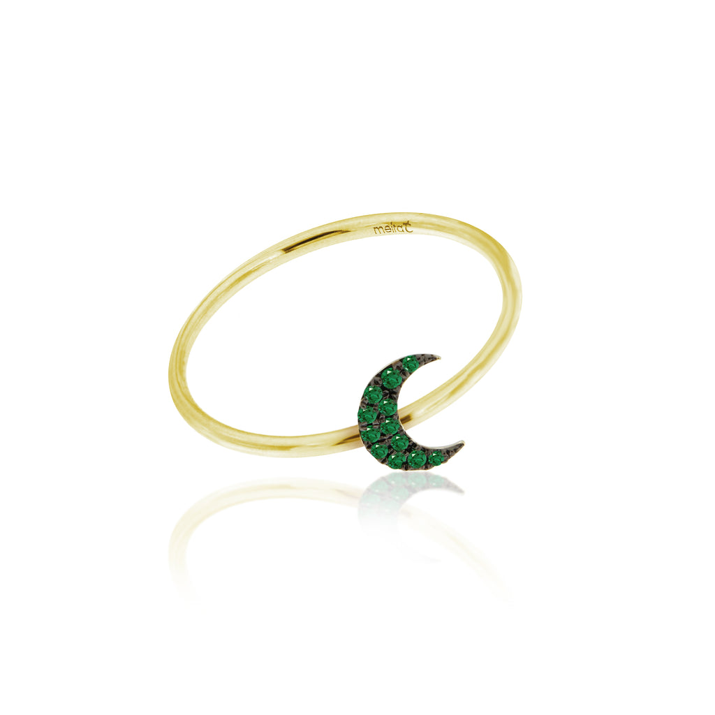 Essential Emerald Moon Ring