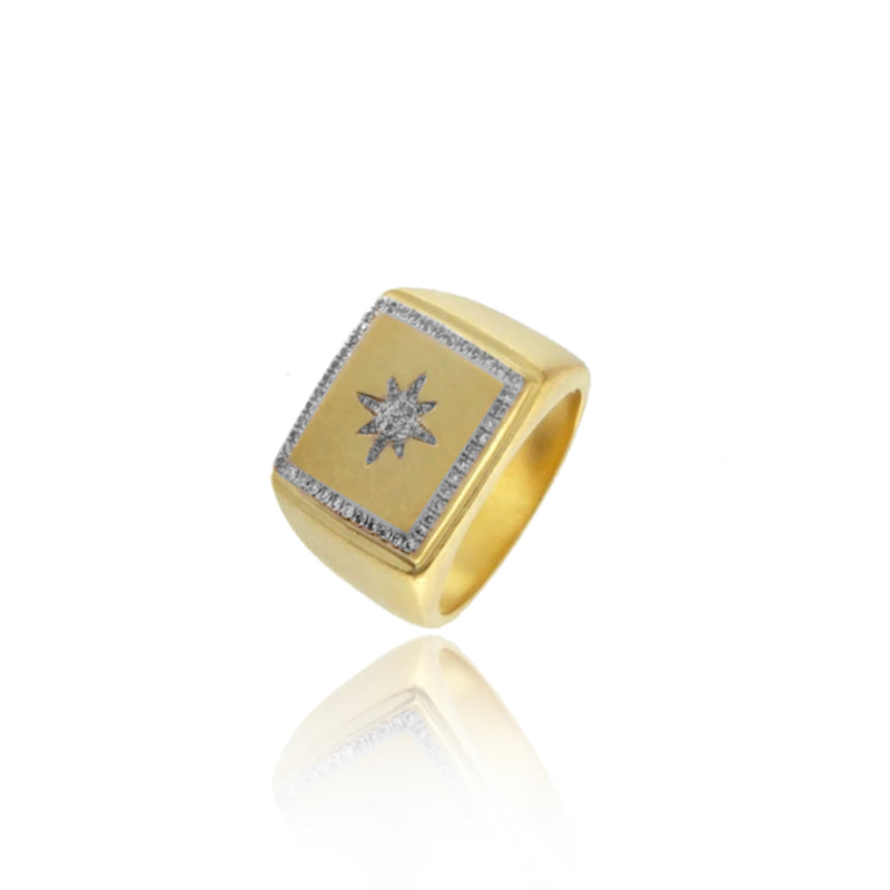 Yellow Gold Starburst Ring