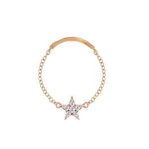 Diamond Star Chain Ring