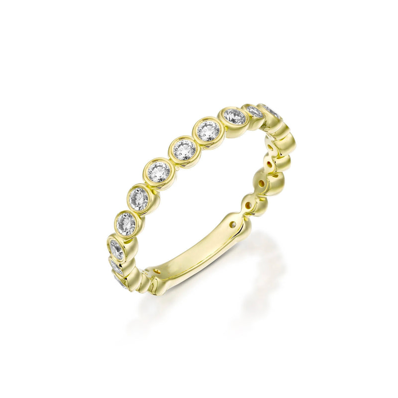Bezel Set Matte Finish Eternity Band