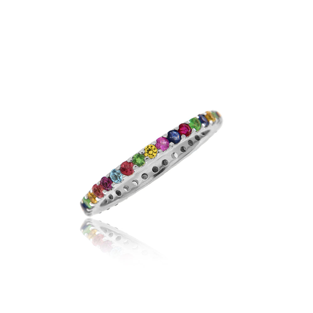 Rainbow Thin Eternity Band