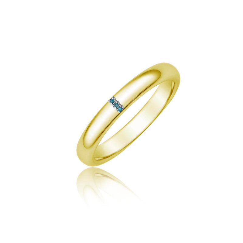 Blue Diamond Gold Band