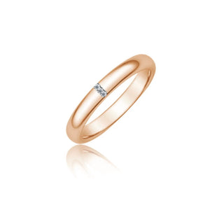 Diamond Rose Gold Band