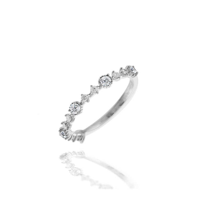 White Diamond Half Band