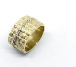 Basket Weave Ring in Yellow Gold