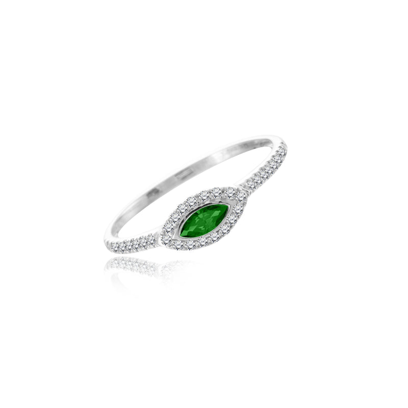 Evil Eye Emerald Ring