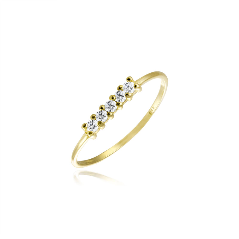 Delicate Diamond Accent Ring