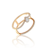 Meira T Rose Gold Diamond Ring