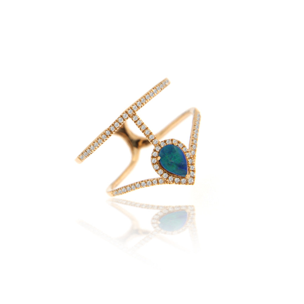 Meira T Rose Gold Australian Opal Ring