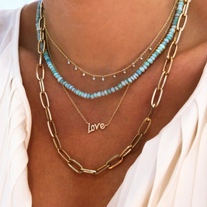 Blue Opal Layering Necklace
