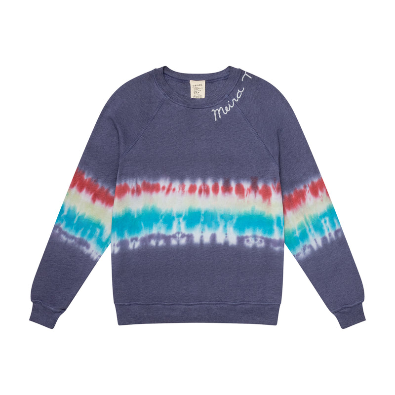 Limited Edition Tye Dye MEIRAT  sweatshirt by I Stole my Boyfriend's Shirt BLUE