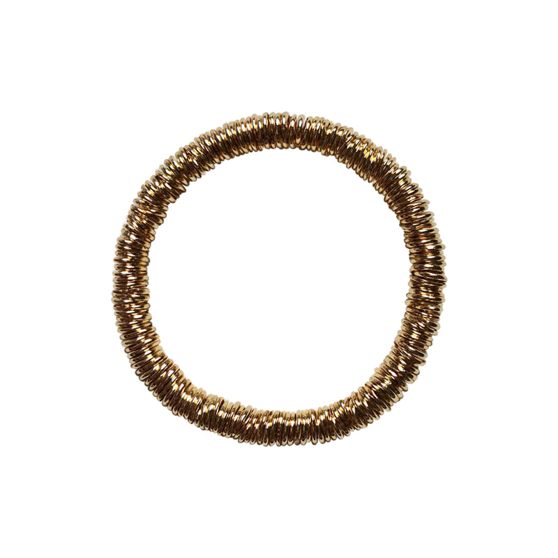 Stretchy Gold Colored Stackable Ring Bracelet
