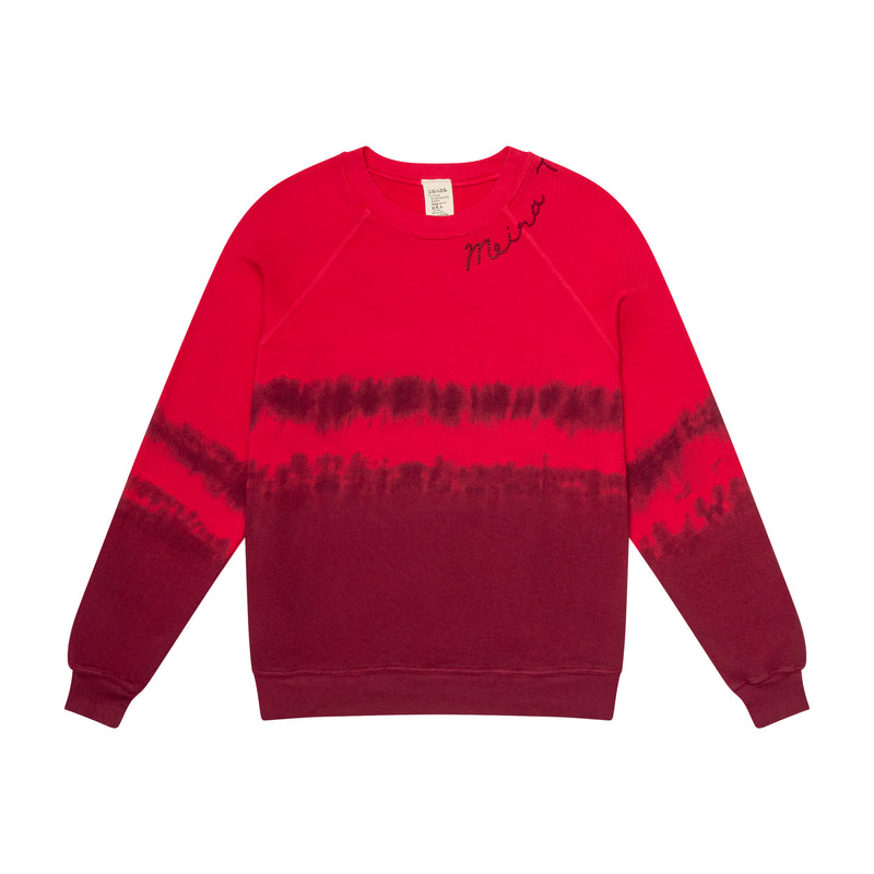 Limited Edition Tye Dye MEIRAT  sweatshirt by I Stole my Boyfriend's Shirt RED