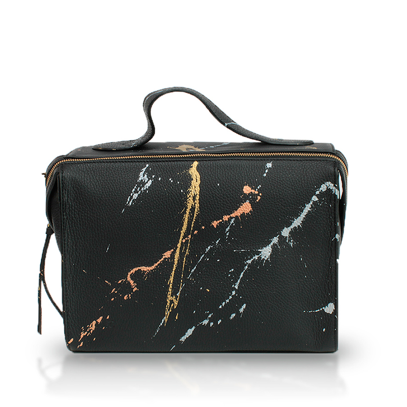 The Meira Mettalic Splatter Bag
