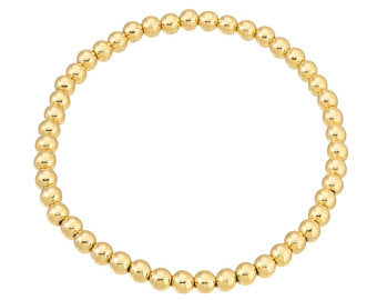 4mm Yellow Gold Fill Ball Bracelet