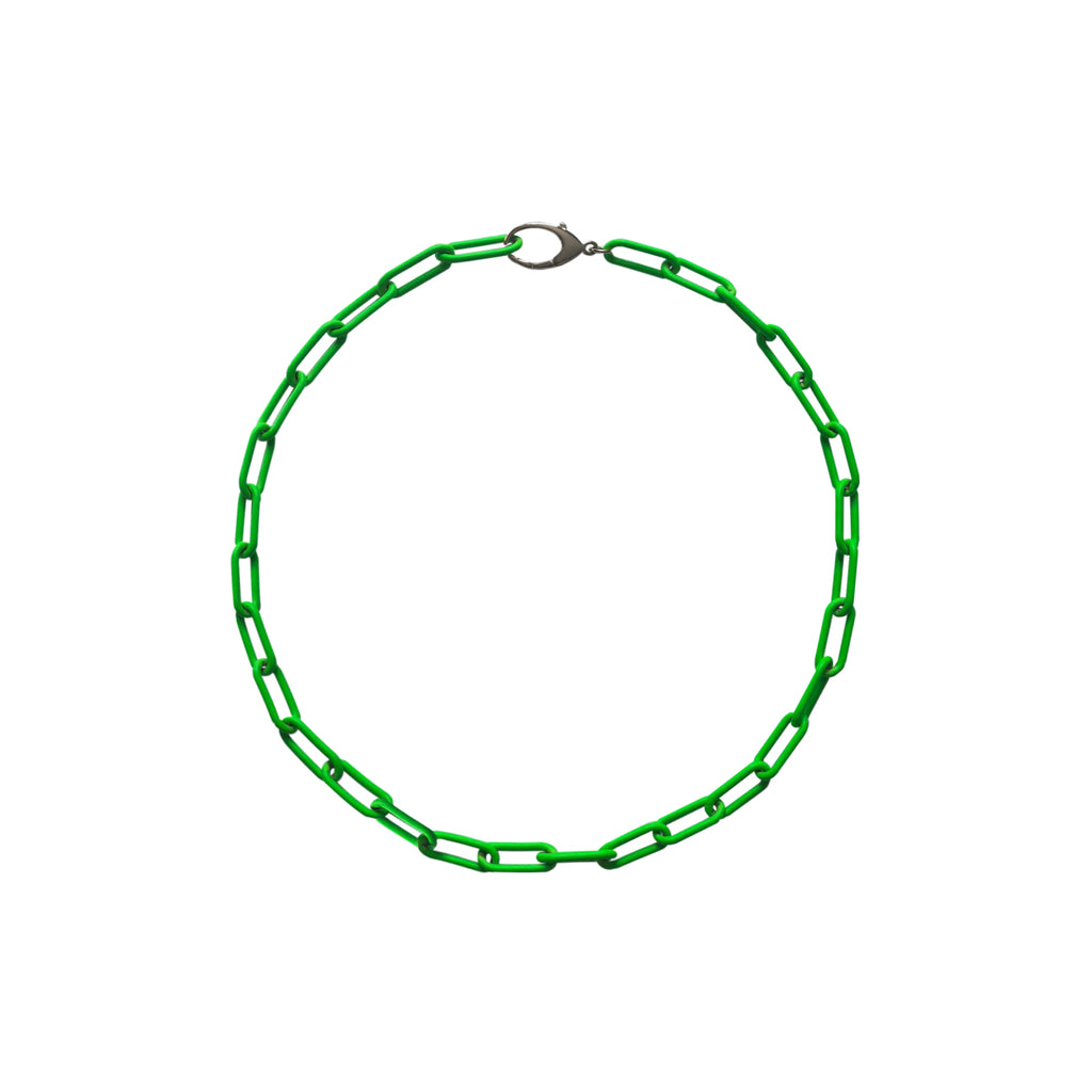 Neon Green Link Chain Necklace WEB EXCLUSIVE