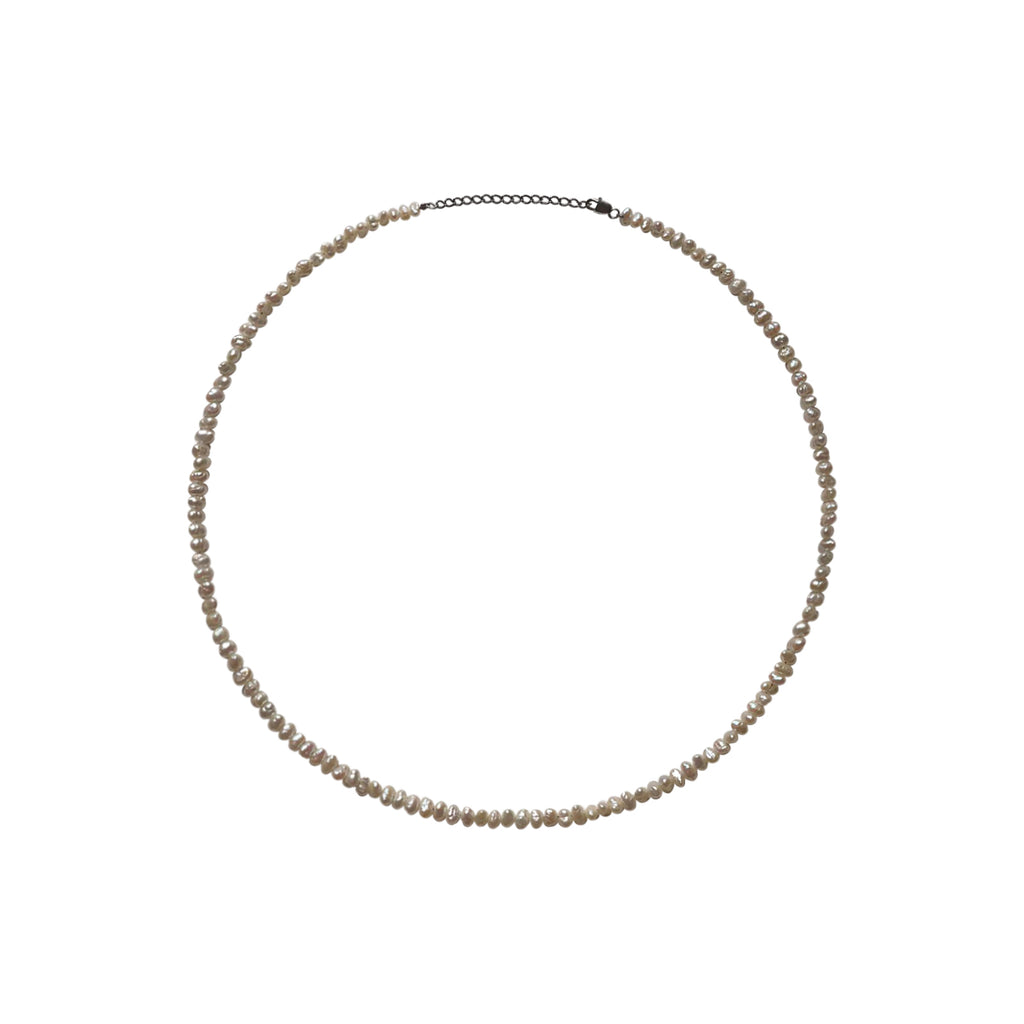 Organic Shaped Freshwater Round Pearl Layering Necklace