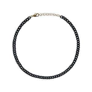 Black Lacquer Curb Chain WEB EXCLUSIVE