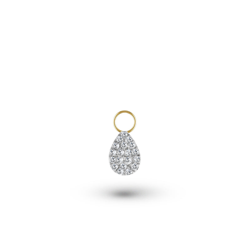 Diamond Pear Charm