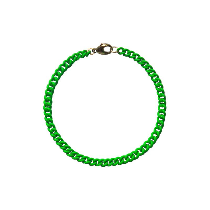 Neon Green Curb Chain Bracelet WEB EXCLUSIVE