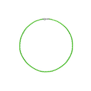Neon Green Sterling Silver Diamond Cut Layering Bracelet