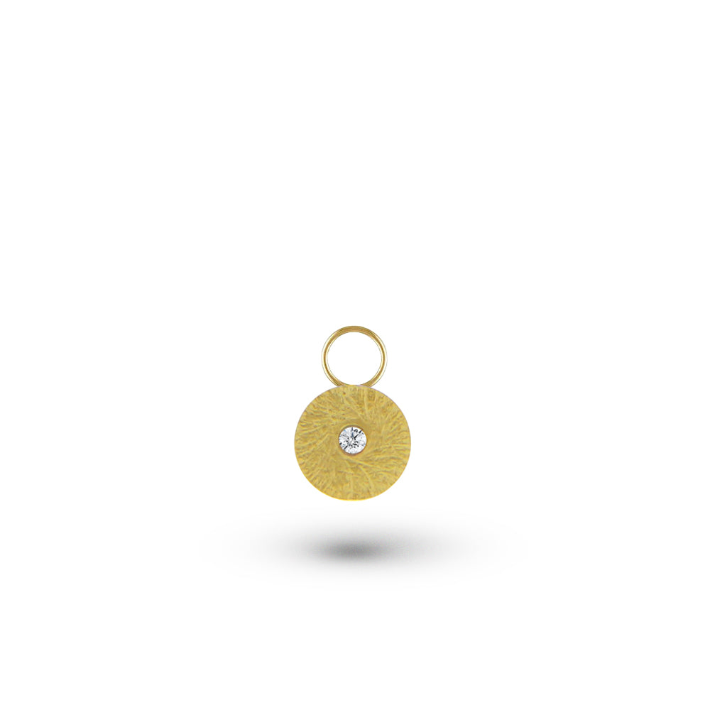 Gold Disk Charm