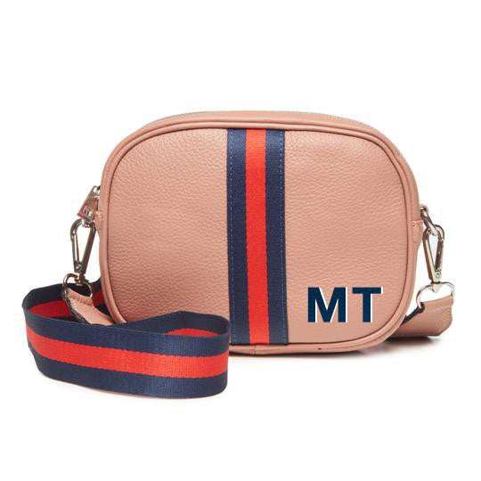 Monogramed  Dusty Rose Crossbody Camera Bag